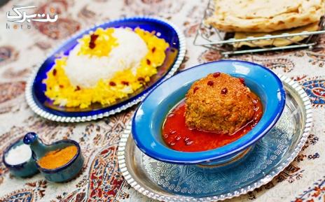 منوی باز غذاهای سنتی در کافه قرار