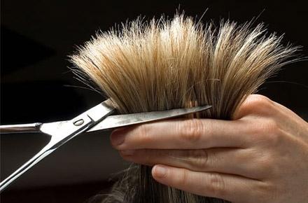 کوپ مو  در سالن زیبایی آتوسا