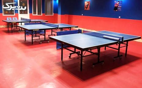 پکیج 2: یک ساعت اجاره میز تنیس