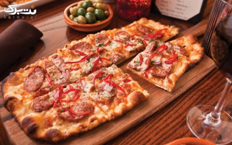 منوی باز پیتزا و پرسی در فست فود چهار، پنج، شش