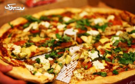 منو باز پیتزا در فست فود سرخه(اسکیمو)