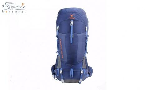 کوله پشتی کوهنوردی 65+5 لیتری کله گاوی رنگ آبی