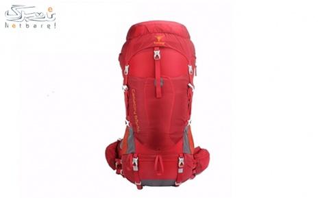 کوله پشتی کوهنوردی 65+5 لیتری کله گاوی رنگ قرمز