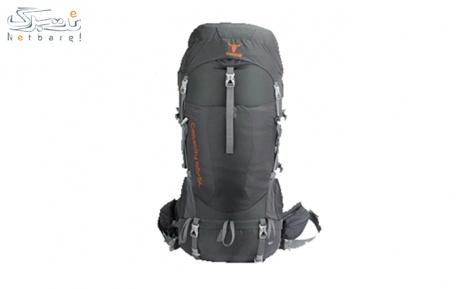 کوله پشتی کوهنوردی 65+5 لیتری کله گاوی رنگ طوسی