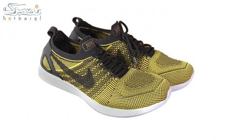 پکیج 1: کفش ورزشی مردانه مشکی زرد طرح نایک سایز 41