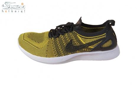 پکیج 4: کفش ورزشی مردانه مشکی زرد طرح نایک سایز 44