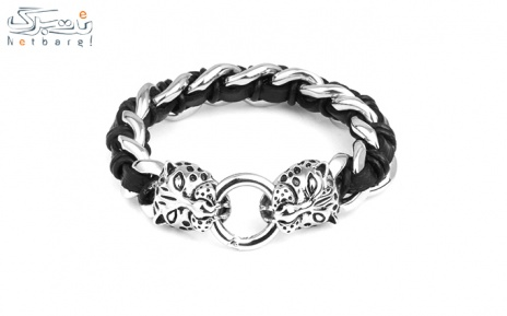 پکیج 9: دستبند مردانه چرم استیل مدل 3SCB-1631