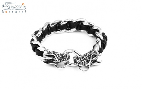 پکیج 10: دستبند مردانه چرم استیل مدل 3SCB-1606