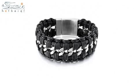 پکیج 14: دستبند مردانه چرم استیل مدل 3SCB-1714