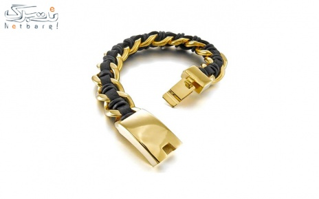 پکیج 15: دستبند مردانه چرم استیل مدل 3SCB-1673
