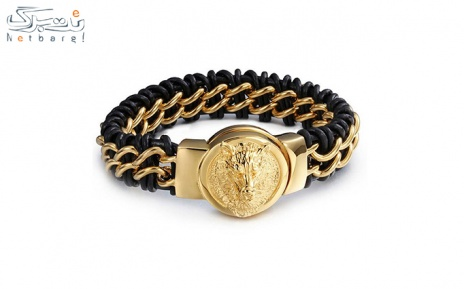 پکیج 16: دستبند مردانه چرم استیل مدل 3SCB-1692