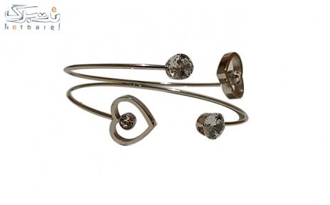 پکیج 1: دستبند استیل زنانه نقره ای کد 2357