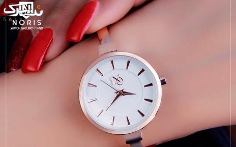 ساعت نوریس کد 1020 رزگلد با صفحه سفید
