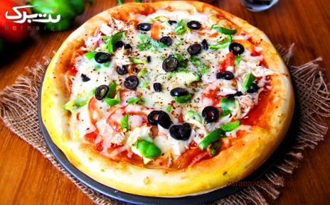 منو پیتزا آمریکایی در کافه رستوران هارلم
