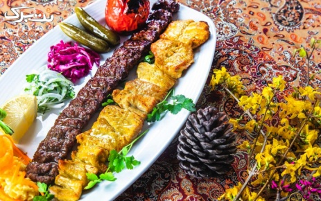 باغچه رستوران سنتی کنعان با غذاهای ایرانی لذیذ