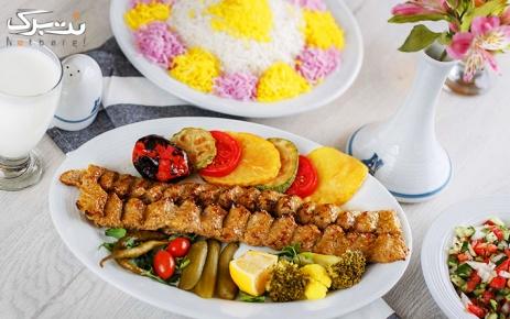 منو ناهار و میز اردور در رستوران سنتی هزار و یک شب