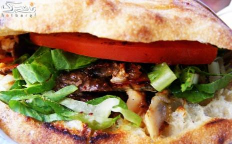ساندویچ میکس دونر+سالاد فصل یا اندونزی+نوشابه