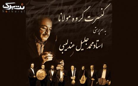 بلیط 40.000 تومانی کنسرت کردی و فارسی گروه مولانا در تالار وحدت