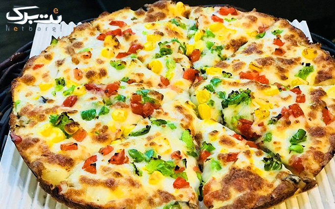 پیتزا قارچ با منو باز انواع پیتزا و لازانیا