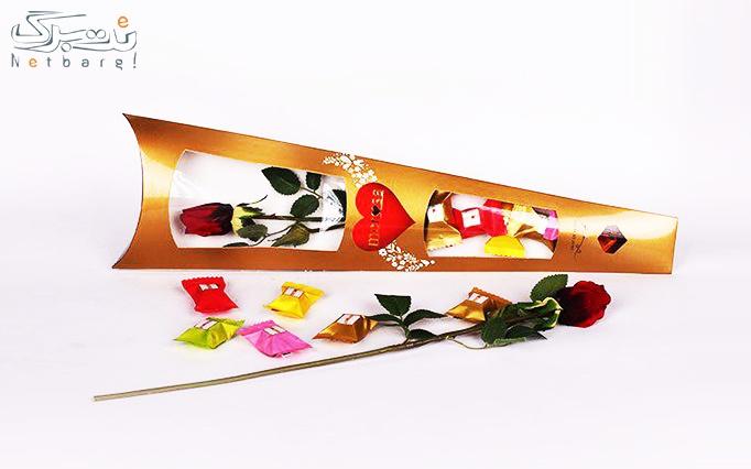پکیج هدیه گل از شکلات مروسا
