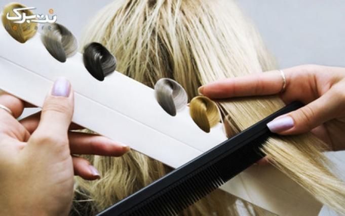 رنگ مو و دکلره در آرایشگاه تی تی سا