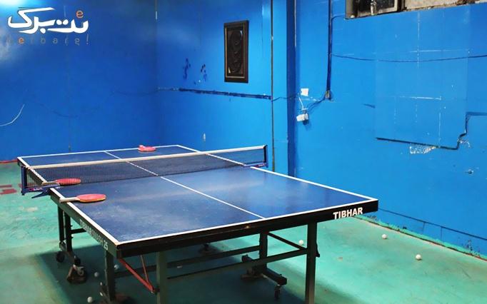 یک ساعت بازی پینگ پنگ در آکادمی پینگ پنگ پروانه