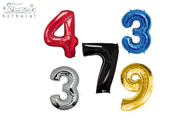 اعداد فویلی در پنج رنگ از فروشگاه لوکس پارتی