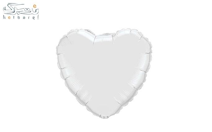 بادکنک طرح قلب رنگی از لوکس پارتی