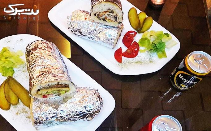 ساندویچ هایدا با سیب زمینی و انواع ژامبون (سرد)