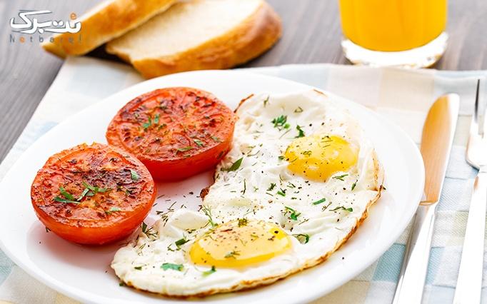 آشپزخانه سفید با منوی صبحانه