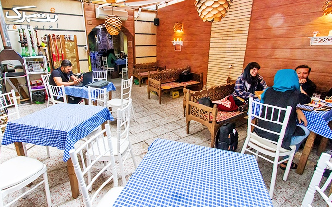 کافه رستوران شاپرک با منو غذایی، نوشیدنی و کافه