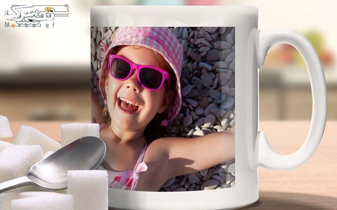 چاپ عکس بر روی لیوان در شرکت نوین