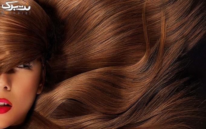 براشینگ مو در آرایشگاه گل آبی