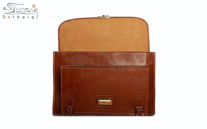کیف اداری مردانه چرم طبیعی مدل al 21