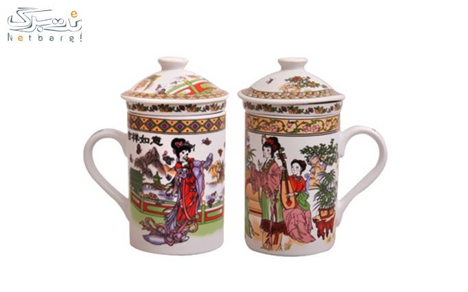 لیوان دمنوش و چای سبز مینیاتوری
