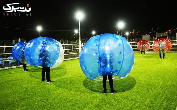 فوتبال حبابی شهر بادی