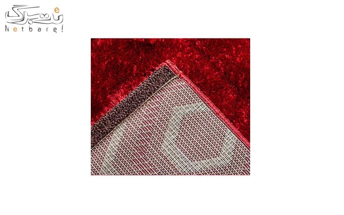 فرش ماشینی پاتریس طرح شش ضلعی قرمز