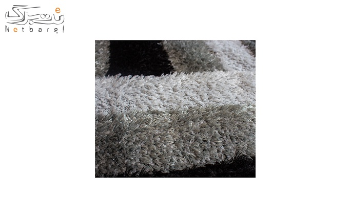 فرش ماشینی پاتریس طرح مستطیل طوسی