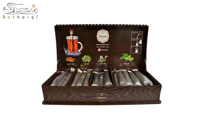 جعبه چوبی لیزری 64 عددی چای ترکیبی کد 2002