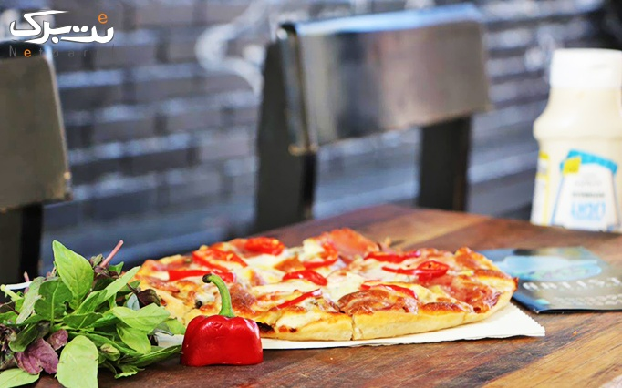 آرتیست با منو باز ساندویچ، برگر، سوخاری و پیتزا