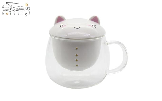 لیوان دمنوش گربه ای مدل 223