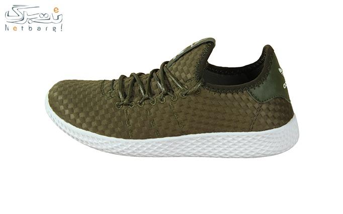 کفش ورزشی زنانه زیتونی طرح آدیداس