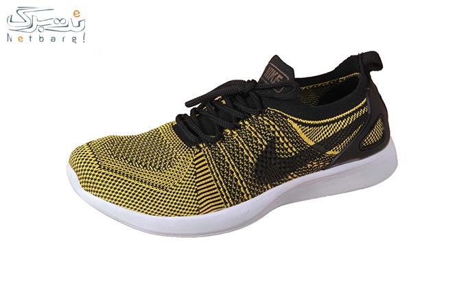 کفش ورزشی مردانه مشکی زرد طرح نایک