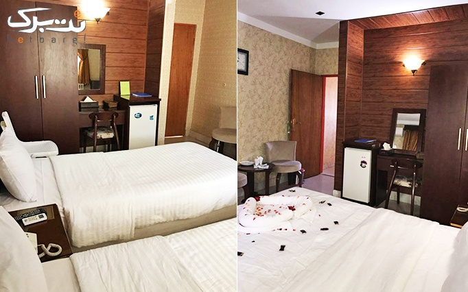 اتاق دو تخته در هتل جهانگردی زنجان