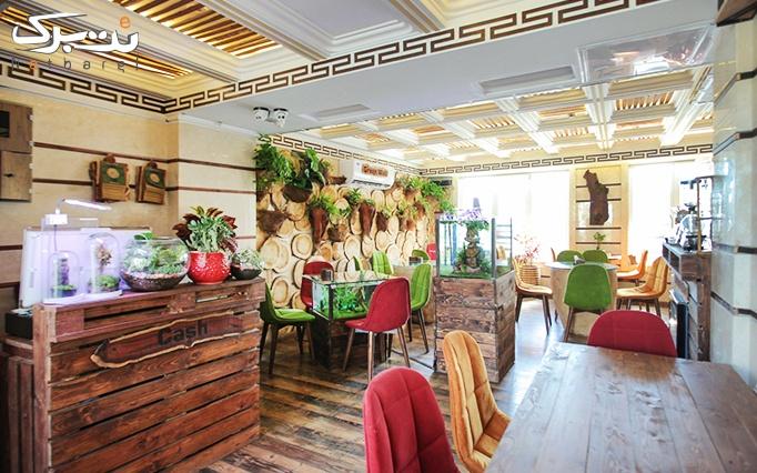 کافه چوب سبز با منو باز غذا و کافی شاپ