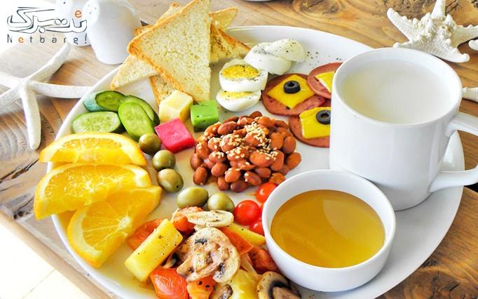 کافه فست فود ماکارا با منو باز صبحانه