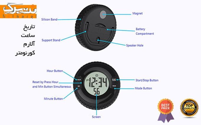 ساعت دیجیتالی یا رومیزی طرح تایر