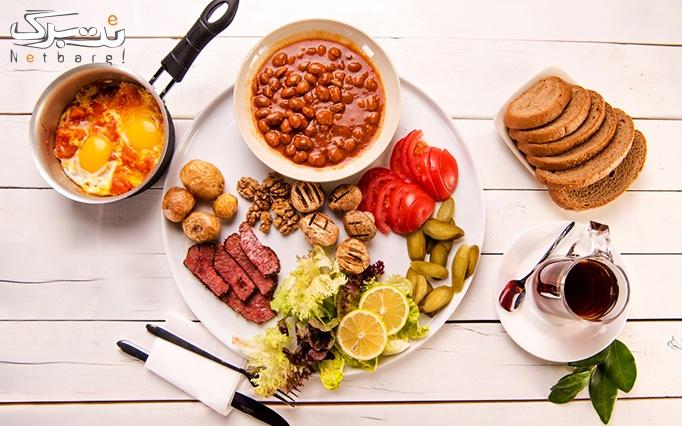 کافه روز و شب با منو باز صبحانه های سرد و گرم