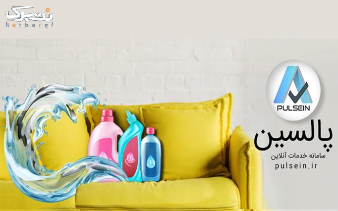 شست شوی مبل همراه با پالسین