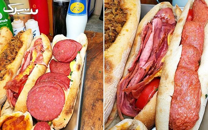 ساندویچ های خوشمزه و متنوع در پیتزا کیوسک